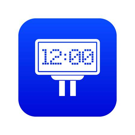 Scoreboard icon digital blue for any design isolated on white vector illustration Illusztráció