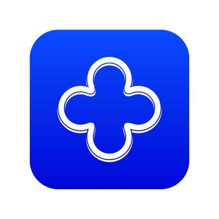 Slice of pepper icon digital blue for any design isolated on white vector illustration
