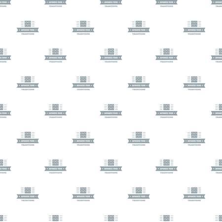 Japanese food pattern vector seamless