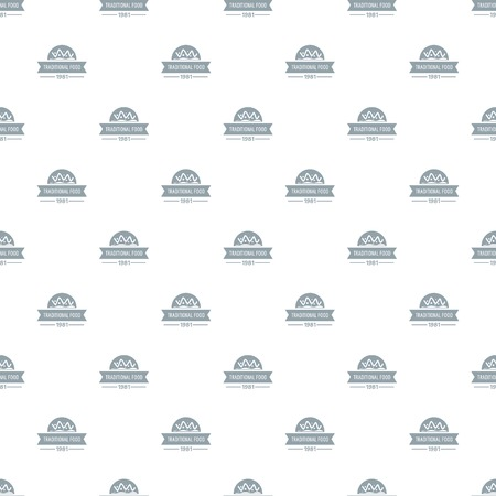 Traditional food pattern vector seamless