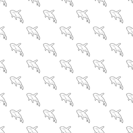 Grampus pattern vector seamless repeating for any web design Illustration