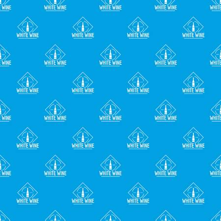 Wine pattern vector seamless blue repeat for any use