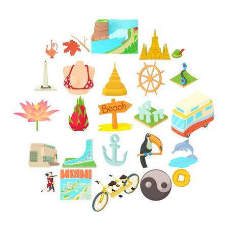 Different culture icons set. Cartoon set of 25 different culture vector icons for web isolated on white background