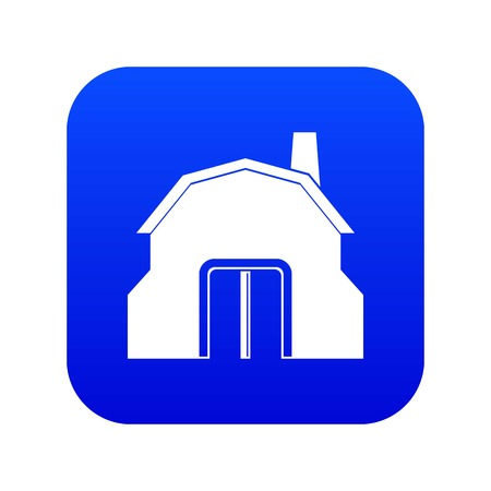 Blacksmith workshop building icon digital blue for any design isolated on white vector illustration