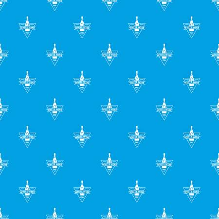 White wine pattern vector seamless blue repeat for any use Ilustração