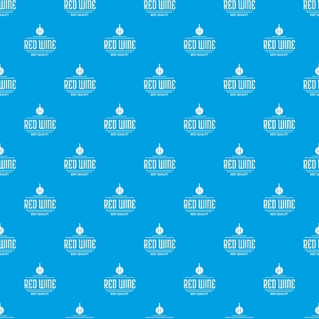 Red wine pattern vector seamless blue repeat for any use