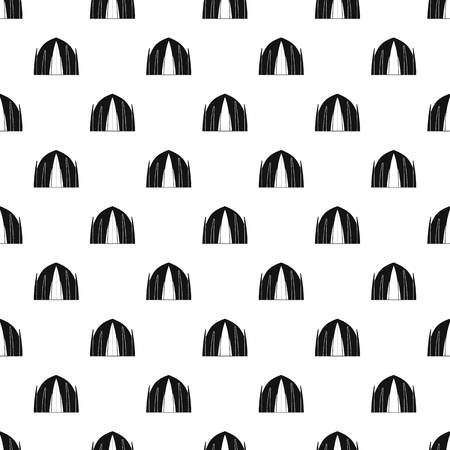 Human house pattern vector seamless repeating for any web design Illustration