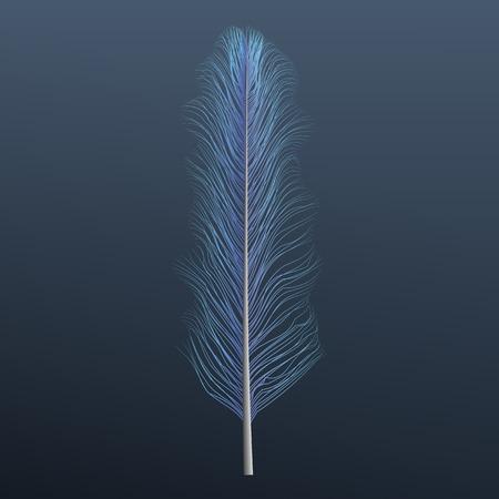 Light blue feather icon. Realistic illustration of light blue feather vector icon for web design 矢量图像