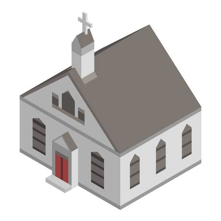 American church icon. Isometric of american church vector icon for web design isolated on white background