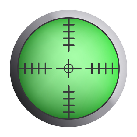 Green sniper crosshair icon, realistic style