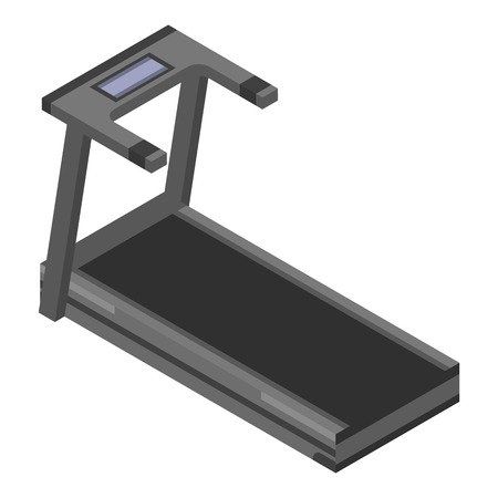 Treadmill machine icon. Isometric of treadmill machine vector icon for web design isolated on white background