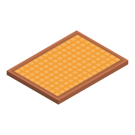 Honey frame icon. Isometric of honey frame vector icon for web design isolated on white background Vectores