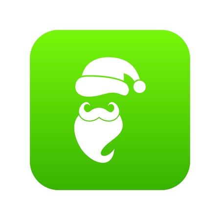 Santa hat, mustache and beard, simple style