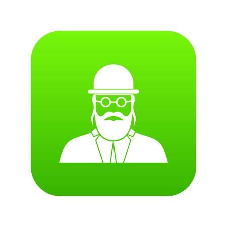 Orthodox jew icon digital green Stock Photo