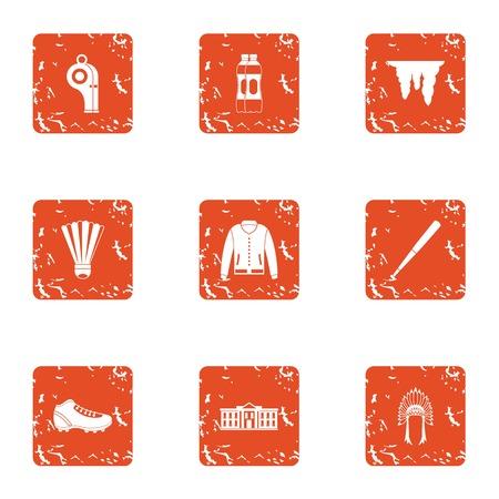 Readiness icons set. Grunge set of 9 readiness icons for web isolated on white background Stock Photo