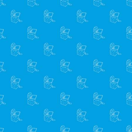 Toy box in spring pattern seamless blue repeat for any use Stock Photo