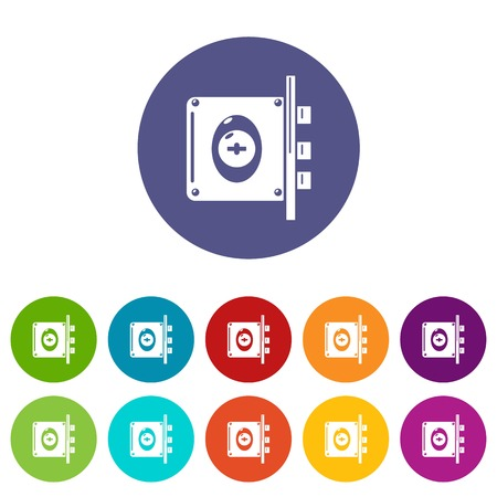 Lock interroom icons color set vector for any web design on white background Illustration