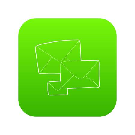 Letter icon green vector Illustration