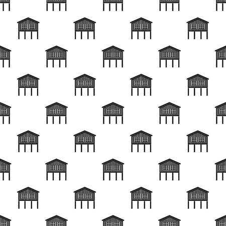 Stilt house pattern vector seamless