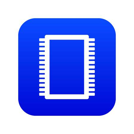 Computer electronic circuit board icon digital blue for any design isolated on white vector illustration 矢量图片