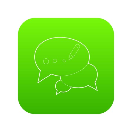 Chat icon green vector