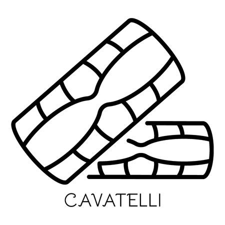 Icona di pasta cavatelli. Delineare i cavatelli icona vettoriali per il web design isolato su sfondo bianco