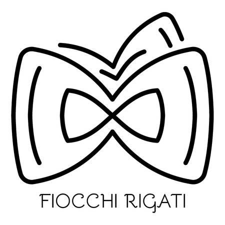 Fiocchi rigati icon. Outline fiocchi rigati vector icon for web design isolated on white background Çizim