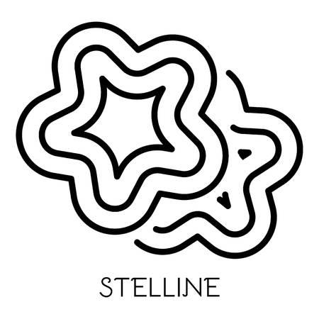 Icona di pasta stelline. Delineare la pasta stelline icona vettoriali per il web design isolato su sfondo bianco