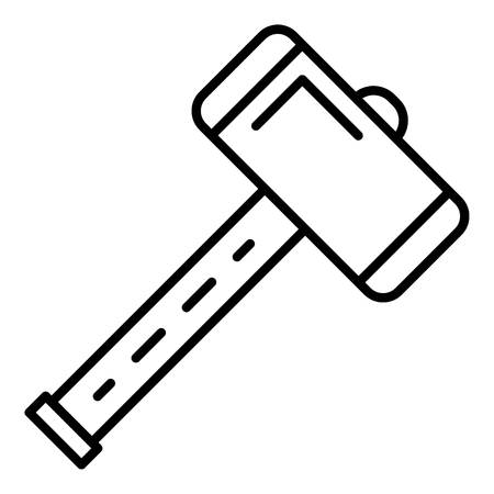 Work sledge hammer icon, outline style