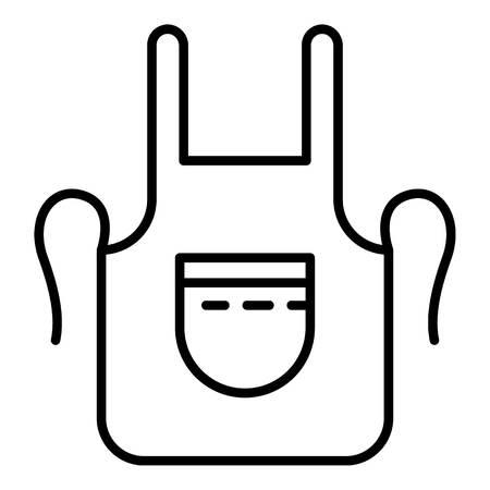Blacksmith apron icon. Outline blacksmith apron vector icon for web design isolated on white background