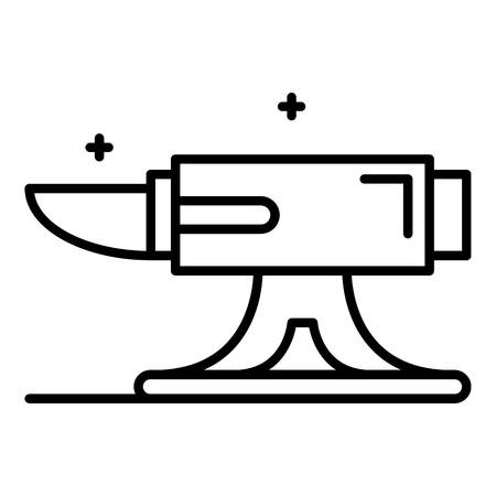Metal anvil icon, outline style Illustration