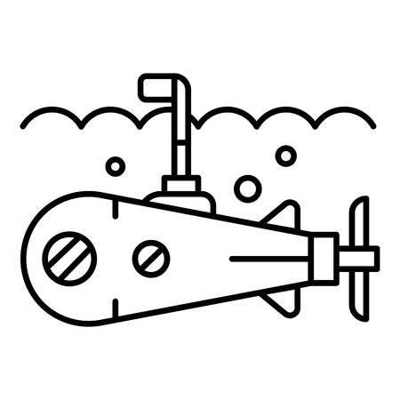 Sea submarine periscope icon. Outline sea submarine periscope vector icon for web design isolated on white background