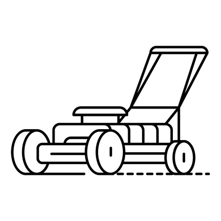 Grass cutter icon. Outline grass cutter vector icon for web design isolated on white background