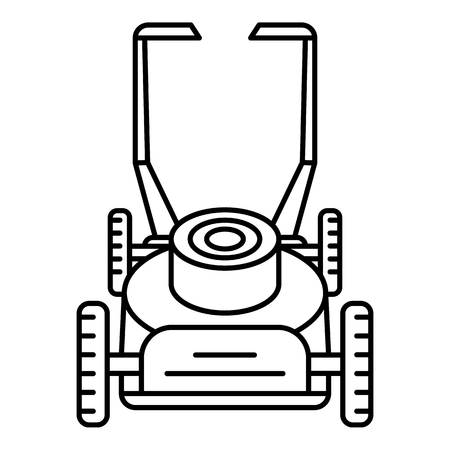 Motor lawn mower icon. Outline motor lawn mower vector icon for web design isolated on white background