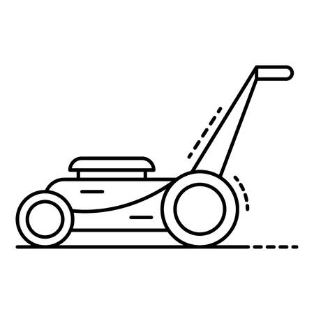 Motor grass cutter icon. Outline motor grass cutter vector icon for web design isolated on white background