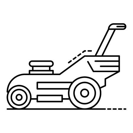 Modern lawn mower icon. Outline modern lawn mower vector icon for web design isolated on white background Stock Illustratie