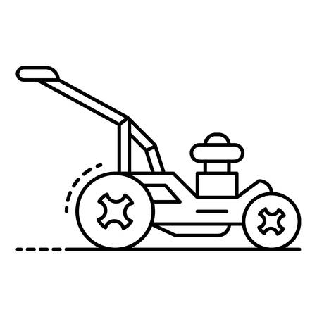 Rotary lawn mower icon. Outline rotary lawn mower vector icon for web design isolated on white background Stock Illustratie