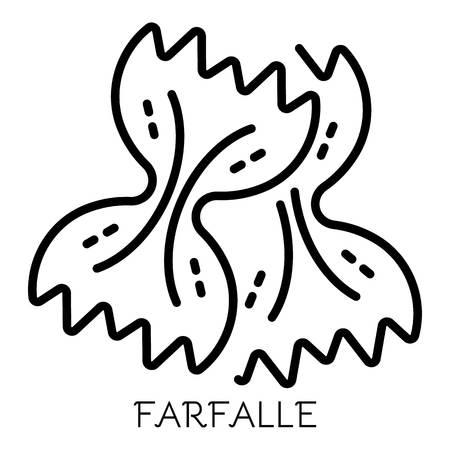Farfalle pasta icon, outline style