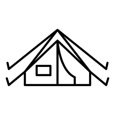 Camp tent icon, outline style