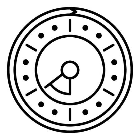 Point clock icon. Outline point clock vector icon for web design isolated on white background