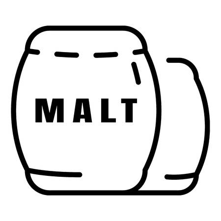 Whiskey malt icon. Outline whiskey malt vector icon for web design isolated on white background