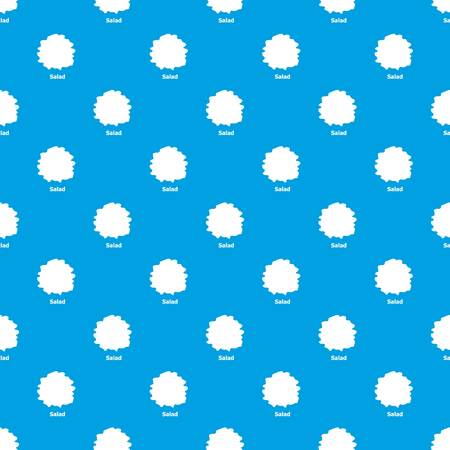 Salad pattern vector seamless blue repeat for any use 向量圖像