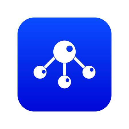 Chemical and physical atoms molecules icon digital blue for any design isolated on white vector illustration