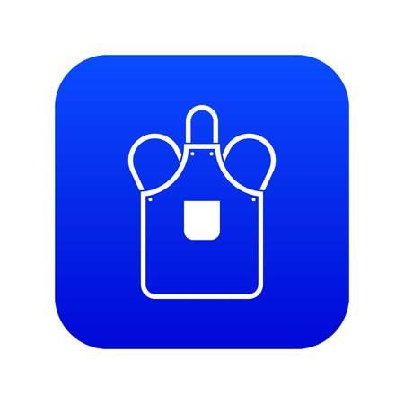 Blacksmiths apron icon digital blue Illustration