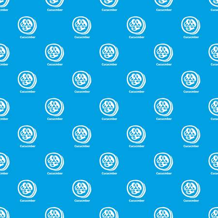 Cucumber pattern vector seamless blue repeat for any use