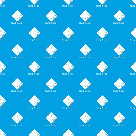 Young cheese pattern vector seamless blue