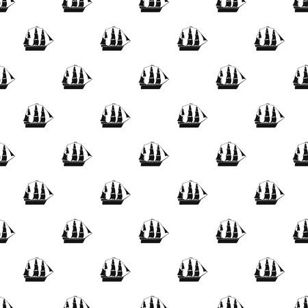 Sailboat pattern vector seamless