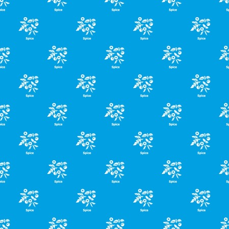 Spice pattern vector seamless blue repeat for any use