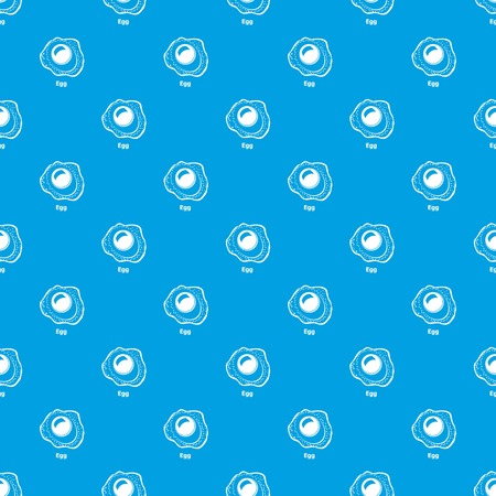 Egg pattern vector seamless blue