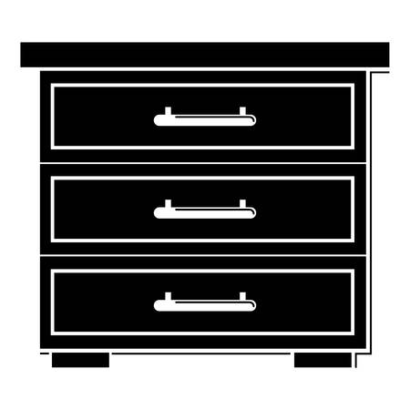 Chest of drawers icon, simple style